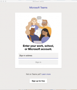 Image showing the splash screen for Microsoft Teams