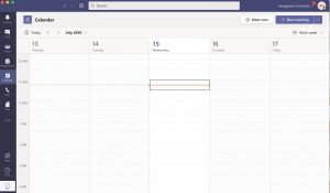 Image showing the calendar functionality in Microsoft Teams