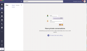 Image showing the chat tab in Microsoft Teams