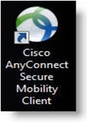 Icon for the Cisco AnyConnect Secure Mobility Client VPN software